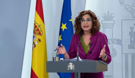 La portaveu del govern espanyol, Maria Jesús Montero