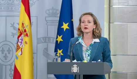 La vicepresidenta econòmica, Nadia Calviño.