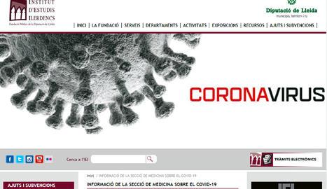 L'IEI de Lleida posa en marxa un punt d'informació virtual sobre salut amb el coronavirus com a eix central