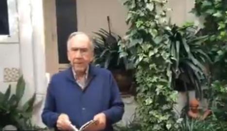 Joan Margarit regala als seus lectors el recital del poema 'La llibertat'