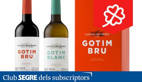 Els lots del Celler Castell del Remei inclouen una ampolla de vi blanc Gotim Blanc i una ampolla de vi negre Gotim Bru cadascun.