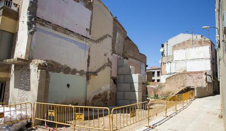 La casa estava deshabitada i es va enfonsar la matinada del passat 6 de març.