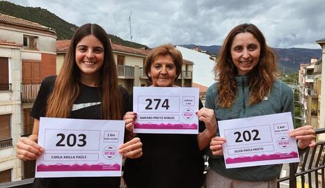 Alguns dels prop de 500 participants de la iniciativa Pallars en Moviment, que es va celebrar ahir.