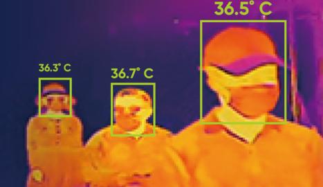 Les càmeres permeten determinar la temperatura de les persones.