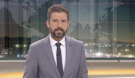 El presentador del 'Telenotícies vespre', Toni Cruanyes.