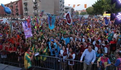 Inauguració de les festes de Pardinyes de l'any passat.