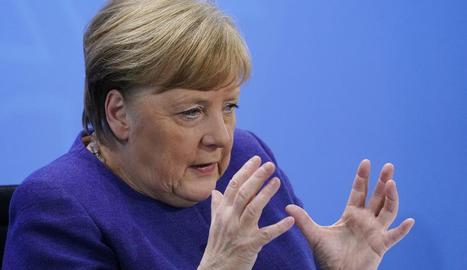 La cancellera Merkel va demanar la col·laboració internacional per aconseguir una vacuna.