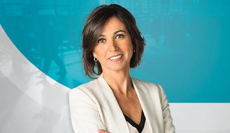 Lídia Heredia presenta el magazín diari d'actualitat 'Els matins' a TV3.