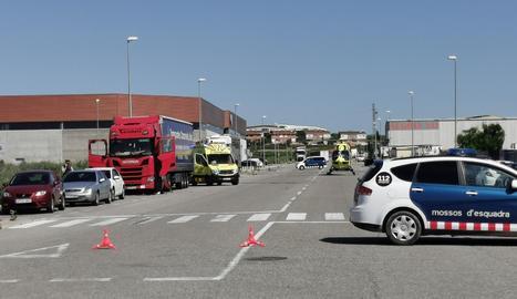 L'explosió s'ha produït a la cabina d'un camió al polígon de Torrefarrera.