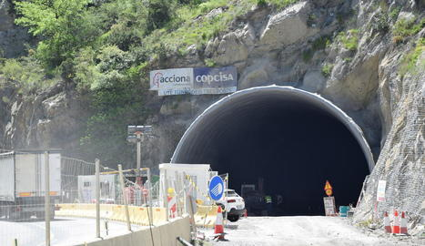 Les obres del túnel de Tresponts, que s'han reactivat.