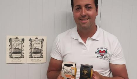 El productor de les melmelades d'Albesa guardonades, Rubén Canal.