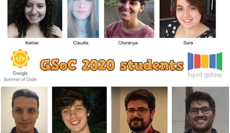 Els vuit estudiants als quals el programa Google Summer of Code ha becat.