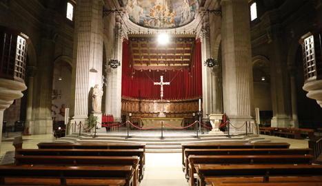 La catedral de Lleida reprendrà els actes religiosos dilluns acollint la missa en honor a sant Anastasi.