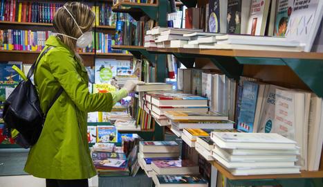 La llibreria L'Espiga d'Agramunt, la passada diada de Sant Jordi.