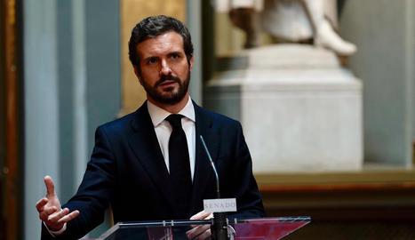 El líder de PP,  Pablo Casado.