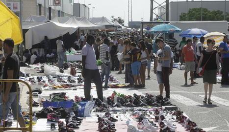 Imatge d'arxiu del mercat dominical de Torrefarrera.