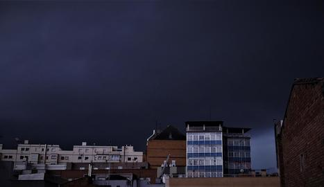 La ciutat de Lleida va registrar ahir al matí un episodi de xàfecs moderats.