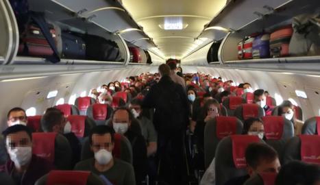 Imatge de l'aforament del vol pel qual ha estat denunciada Iberia.