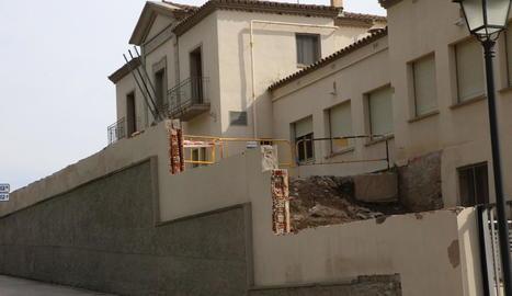 La seu de Justícia, al carrer Sant Martí, un dels punts on s'han reprès les obres.