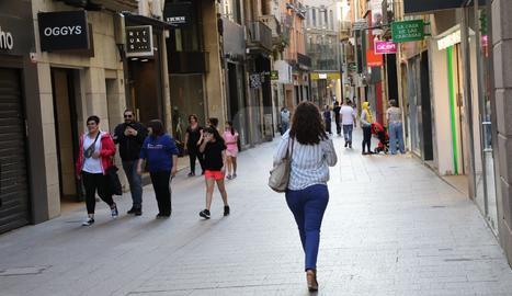 L'Eix Comercial de Lleida aquest dimecres.