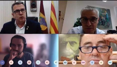 Reunió telemàtica amb edils i el president de les Garrigues.