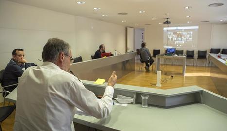 Imatge del ple del consell de la Segarra de dimecres.