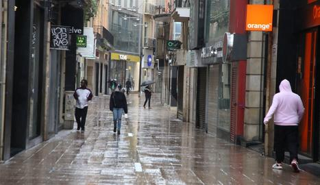 L'Eix Comercial de Lleida en la fase 0 de la desescalada.