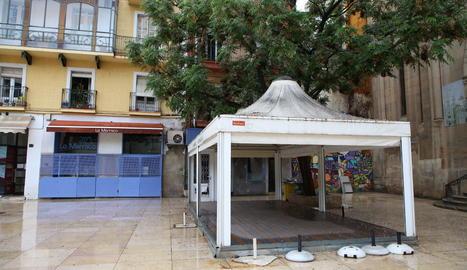 La terrassa d'un bar de Lleida.