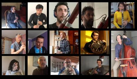 Concert mitjançant videotrucada d'alguns dels membres de l'Orquestra Simfònica de les Illes Balears durant el confinament.