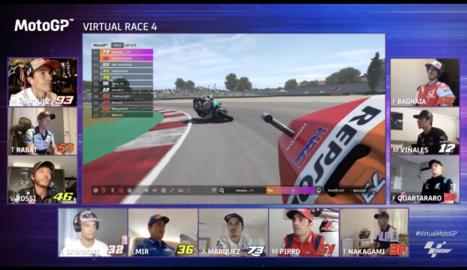 La prova, disputada al circuit de San Marino del videojoc 'MotoGP20', va reunir onze pilots.