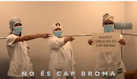 Una escena del videoclip enregistrat pel servei d'Oncologia de l'Arnau.