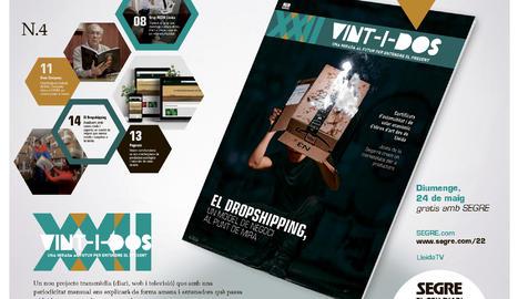 El 'dropshipping', aquest diumenge a la revista Vint-i-dos, gratis amb SEGRE