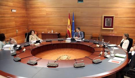 La reunió del Consell de Ministres d'aquest dimarts.