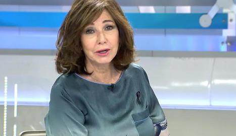 Ana Rosa Quintana al seu programa.