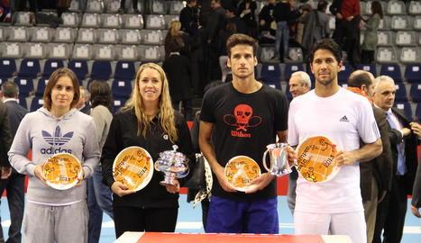 Feliciano López, segon per la dreta, va ser finalista del Master espanyol disputat a Lleida el 2013.