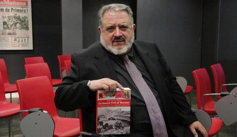 El 2015 va presentar a Lleida el llibre 'La Guerra Civil al Montsec'.