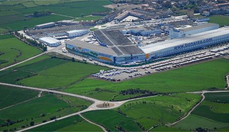 Vista aèria del complex de la bonÀrea Corporació a Guissona.