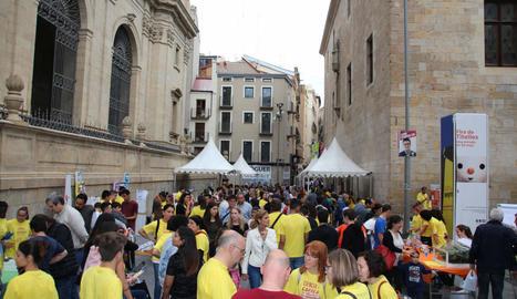 Una edició anterior de la mostra Ciència al Carrer a Lleida