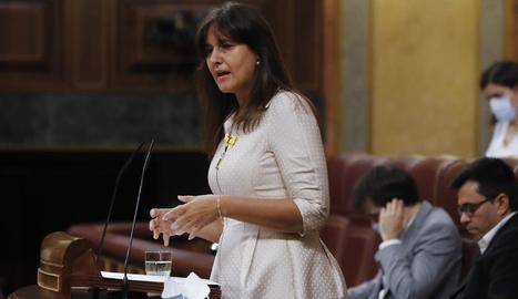 Imatge de la portaveu del grup parlamentari de Junts per Catalunya al Congrés, Laura Borràs.