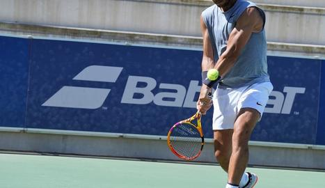 Fotografia que va difondre ahir el tenista a les xarxes socials.