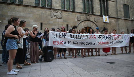 Concentració a Lleida contra les agressions sexuals.