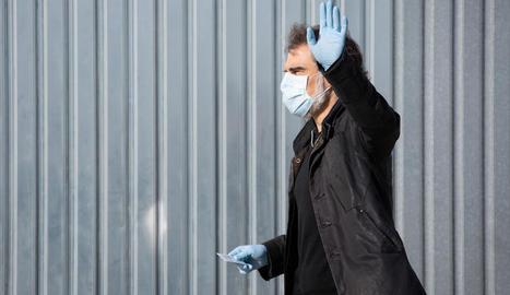 El president d'Òmnium, Jordi Cuixart, en una de les sortides per treballar a la seua empresa.