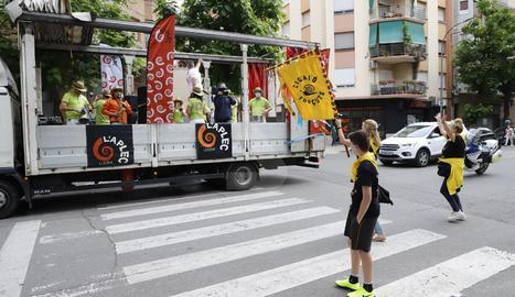 La Fecoll va protagonitzar una desfilada pels carrers de Lleida, coincidint amb el cap de setmana en què la capital del Segrià hauria d'haver celebrat la 41 edició de la festa.
