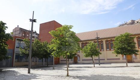 Vista exterior de les instal·lacions de l'Aula Municipal de Teatre de Lleida.