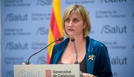 La consellera de Salut, Alba Vergés, en una compareixença de premsa.