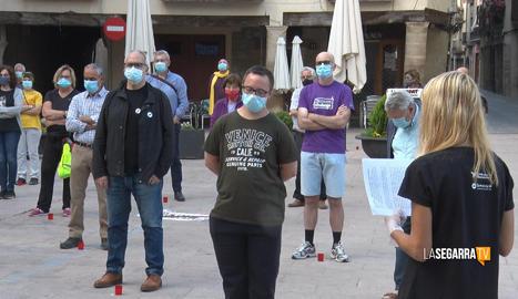 Cervera acull la primera concentració independentista a la demarcació de Lleida durant l'estat d'alarma