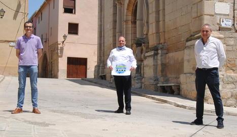 Pere Aumedes, Jordi Castanyé i Jordi Calvís van presentar ahir aquesta iniciativa.