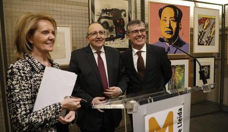 Inauguració el març passat de la mostra amb obres cedides per Antoni Gelonch al Museu de Lleida.