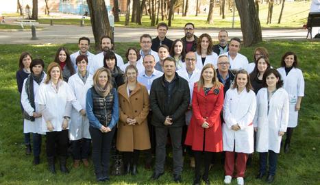 Investigadors del Grup de Recerca de Cures en Salut de l'IRBLleida, en una imatge d'arxiu.