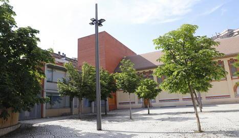 Vista exterior de l'Aula Municipal de Teatre de Lleida.